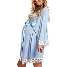 Gagacity - Básico Mujer Embarazada Lactancia Bata/Camisón/Pijama