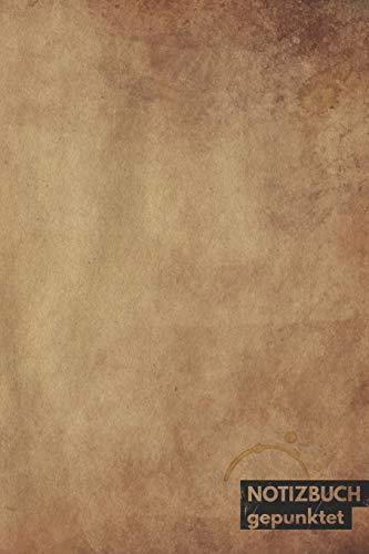 Notizbuch gepunktet: mit Punkten / Dot grid Notebook (6x9) A5 modisches Notizbuch 108 Seiten braun (Muse Du Kostüm)