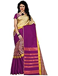 Devani Brothers Women's Cotton Silk Saree With Blouse Piece