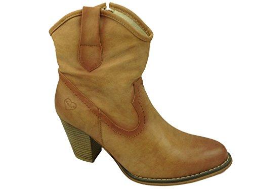 Foster Footwear , Santiags fille femme Camel
