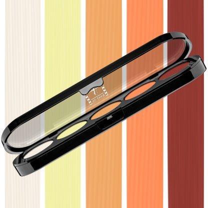 Beste Lidschatten Palette Make-Up Atelier Paris T06 Yellow Orange Tones, Profi-Augenpalette mit 5 Farben, hoch pigmentierte Lidschatten (Atelier Paris Make-up)