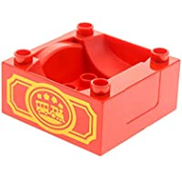1 x Lego Duplo Führerhaus rot 4x4 Zug Aufdruck 52088 Container 3771 51547pb06