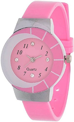 Rage Enterprise Analogue Pink Dial Girl'S Watch- Re100008
