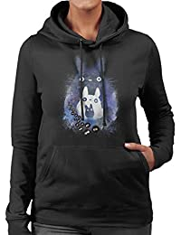 Cloud City 7 Totoro and Forest Spirit Friends Women s Hooded Sweatshirt cd6cc2080ab