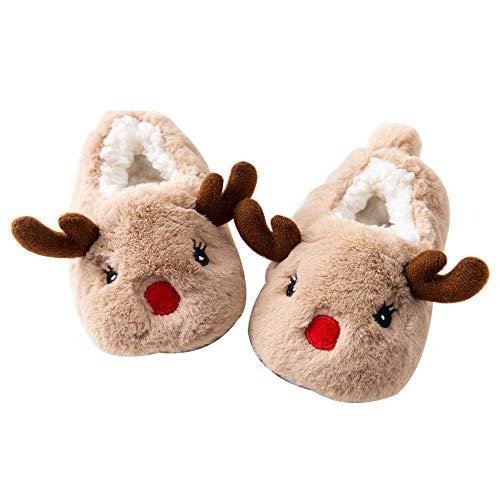 Vovotrade ☺ ciabatte, natale bambina bambino cartoon animali in cotone scarpe da bambino scarpe calde casa antiscivolo