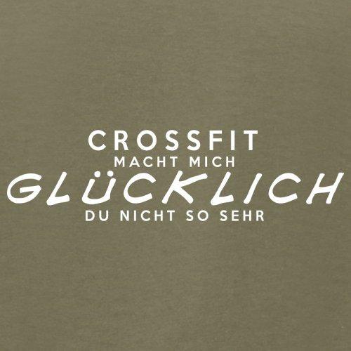 CrossFit macht mich glücklich - Herren T-Shirt - 13 Farben Khaki