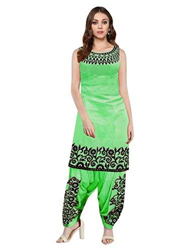 Sancom Women's Cotton Embroidery Work Unstitched Salwar Suit -71325J