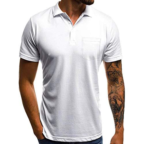 Zolimx camicia a maniche corta da uomo maglietta da uomo estate manica corta t-shirt tshirt t-shirt maglia maglietta,camicia da uomo button t shirt top con tasca