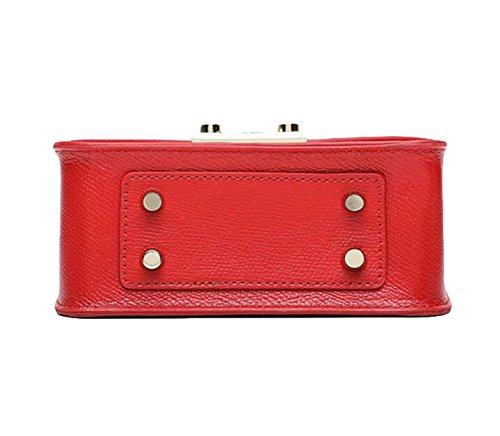 Schulter Messenger Bag Mode Handtasche Kette Tasche Kleines Quadrat-Paket Red