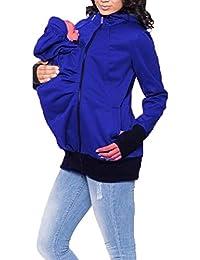 Zalock 3 en 1Porte-bébé Maternité Maternité Polaire Multifonctionnel Hiver  Maternité Veste Kangourou Bébés Porteur Pullover Sweat-Shirt… aaa8ad01e5b