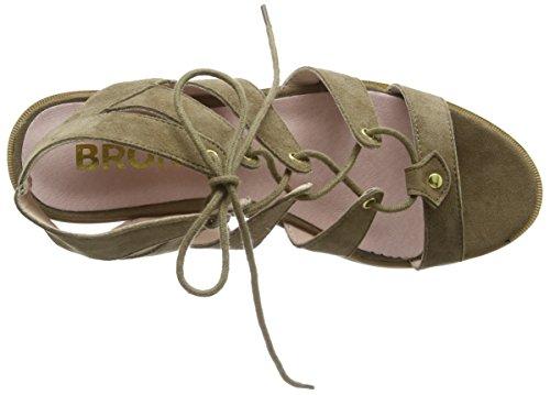 BronxBbrandyX - Scarpe con Tacco donna Grigio (12 Taupe)