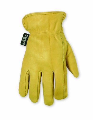 Top-grain-rindsleder-handschuhe (Custom Lederwaren 2059M gefüttert Top Grain Rindsleder Handschuhe, mittel)
