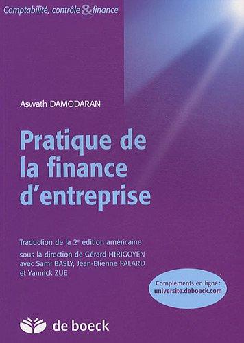Pratique de finance d'entreprise