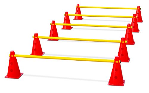 HAEST Steckhürdenset für Koordinationstraining - Rot-Gelb