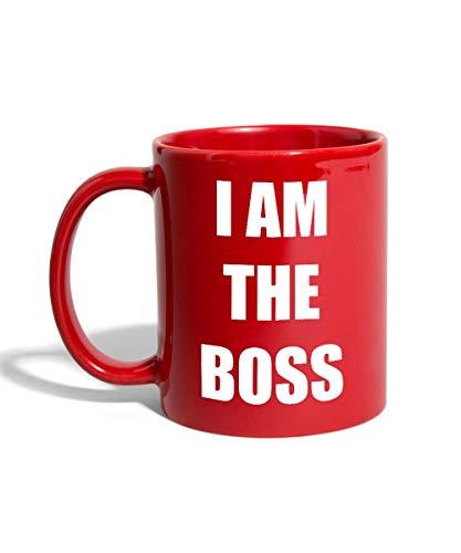I Am The Boss Tasse Mug, rouge