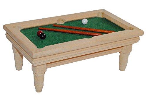 Unbekannt Billardtisch aus Holz hell Miniatur - Maßstab 1:12 - für Puppenstube Puppenhaus Snooker Poolbillard -