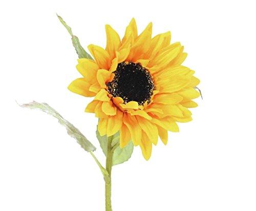 Deko Sonnenblume mit Blütenkopf Durchm. 13cm, Länge 70cm – künstliche Bäume, Kunstpflanzen Kunstbäume