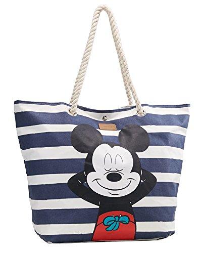 CODELLO Damen Strandtasche mit Mickey Mouse