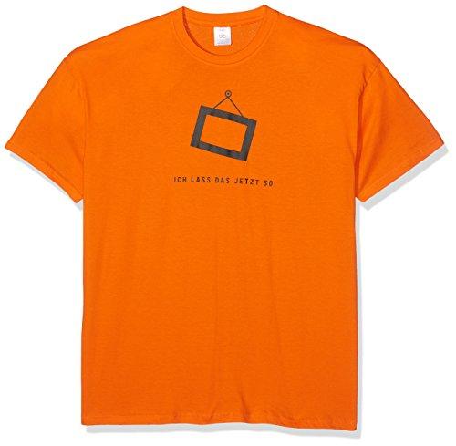 Shirtzshop–Maglietta da uomo Ich Lass Das jetzt so–Cornice portafoto arancione
