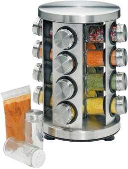 Küchenprofi portaspezie, rotondo, in acciaio inox e vetro per estate 2014
