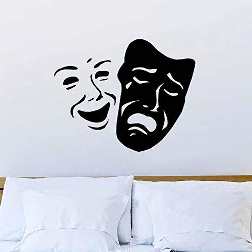 ken Lächeln Und Trauriges Gesicht Muster Wanddekor Aufkleber Dekoration Für Wohnzimmer Wände Die 55 * 44 cm ()