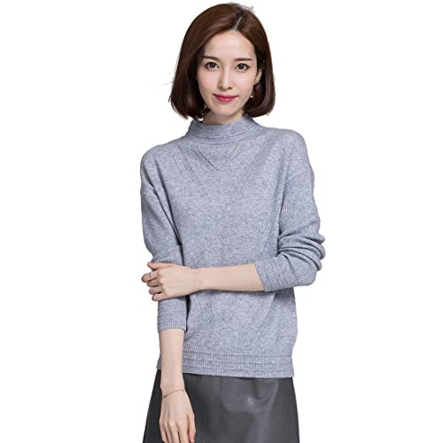 Black Cashmere Turtleneck Pullover (Panreddy Women's Cashmere Knitted Pullover Turtleneck Sweaters JA08)