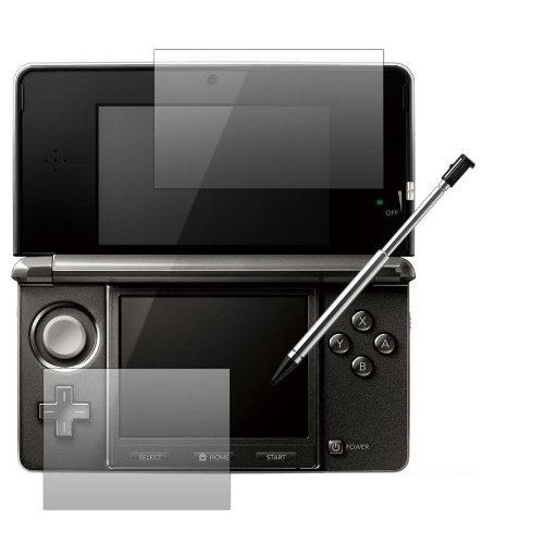 Slabo 2 x Displayschutzfolie kompatibel mit Nintendo 3DS 1x Bildschirm + 1x Touchscreen Displayschutz No Reflexion|Keine Reflektion 3 DS 3-DS (Blackberry Torch Bildschirm)