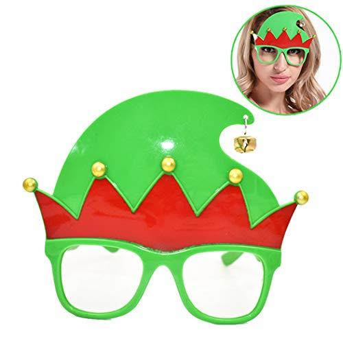 Zoylink Weihnachtsbrillen Rahmen Schöne Hut mit Bell Brillen Rahmen