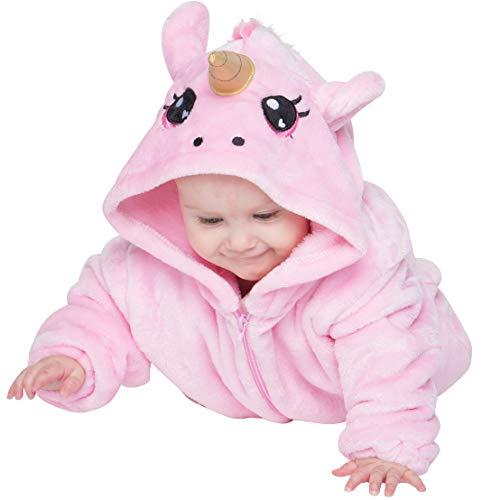 as Einhorn Baby Neugeborenen Onesie Jumpsuit Strampler Anzug Kostüm Verkleidung (60-70 cm), Rosa ()