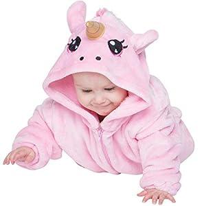 corimori-Rose el Unicornio Ropa de Dormir Disfraz Animal (6+ modelos) Bebé Recién Nacido, color rosa, Talla 60-70 cm (1850)