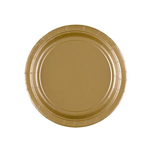 Amscan 17.7 cm Papierteller Gold, 8 Stück
