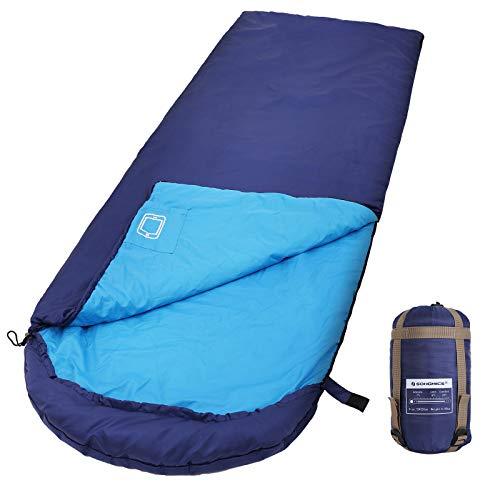 SONGMICS Saco de Dormir con Capucha para 7-15°C
