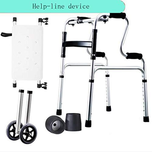 LTOOLA Gehhilfen, Rohrstuhl, Armlehne des Alten Mannes, Vier Füße, Ältere Behinderte Spaziergänger