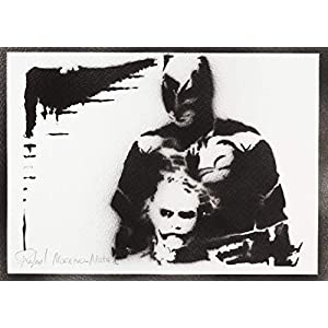 Batman und Joker Poster Plakat Handmade Graffiti Street Art – Artwork
