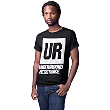 1 4 Mile Kult Clothing Camiseta Negra Detroit Techno para Hombre  Underground Resistance de74c15e74e
