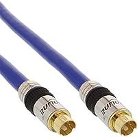 InLine S-VHS Kabel, PREMIUM, vergoldete Stecker, 4pol mini DIN Stecker / Stecker, 1m