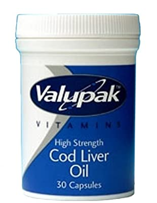 Valupak High Strength Cod Liver Oil Capsules 550mg 30 Capsules