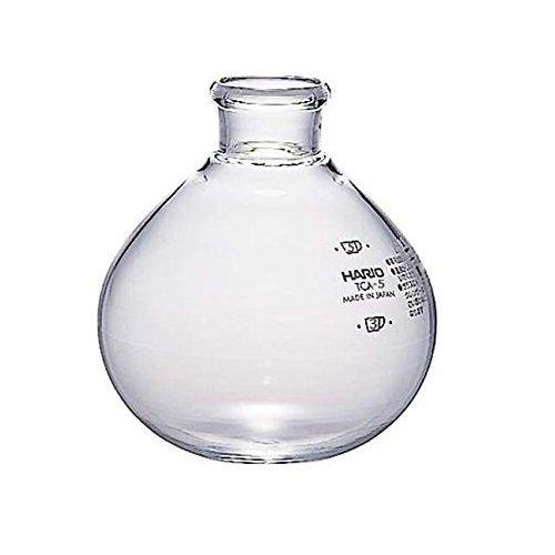 Hario 4977642508057 VD Vakuum-Kaffeemaschine unten Schale für Kaffee Siphon, transparent, Glas, farblos, 10,5 x 15 x 12 - Glas Vakuum Kaffeemaschine