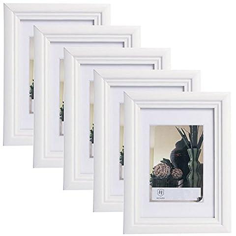 5er Set 10x15cm Bilderrahmen Artos Stil Holz Rahmen Fotogalerie Glasscheibe