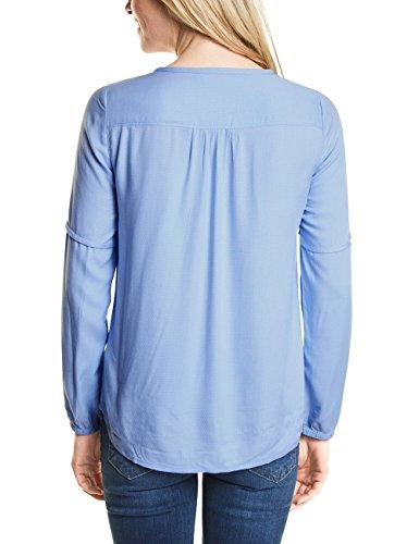 Cecil Damen Bluse Blau (Indigo Light Blue 11247)