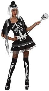 Atosa-10478 Disfraz Esqueleto, Color negro, XS-S (8.42226E+12)
