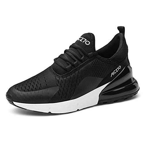 Ufatansy Herren Sportschuhe Damen Trainer Air Turnschuhe Atmungsaktiv Laufschuhe Freizeitschuhe Leichtes Sneaker Outdoorschuhe (42 EU, M-Black White) (Cool Schuhe)