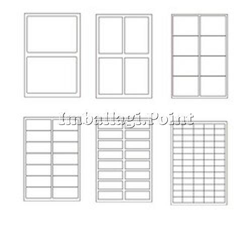 Preisvergleich Produktbild 25 Blatt A4 Etiketten Aufkleber bedruckbar 52 x 30 mm 40 x Folio 1000 insgesamt
