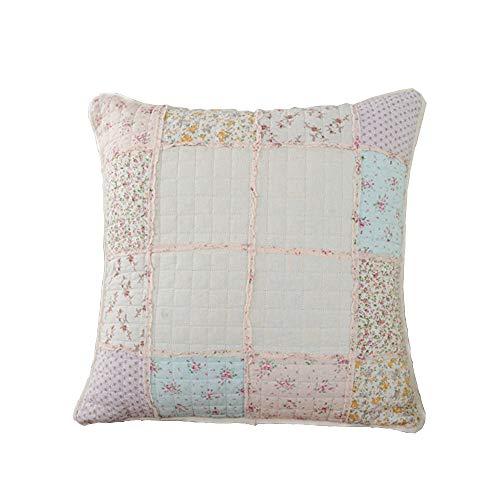 PillowCry Kissenbezug, Shabby Chic, Landhaus-Stil, Blumenmuster, für Sofa, Rose, 50x50cm
