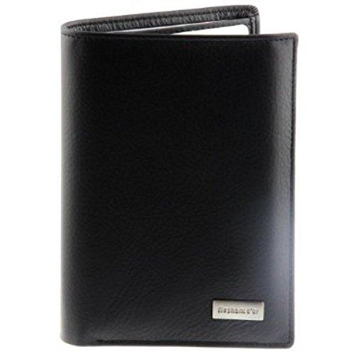 Portefeuille Design pour homme en cuir noir, très classe,