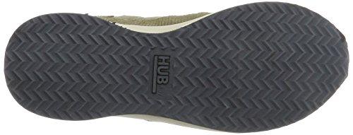 Hub Damen Zone-w N61 Lizard Sneaker Grün (Dark Olive/Dark Olive/Bone)