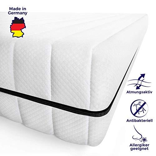 Mister Sandman schadstofffreie 7-Zonen-Matratze für gesunden Schlaf - Kaltschaummatratze mit Liegezonen und pflegeleichtem Matratzenbezug, Höhe 15cm (140 x 200 cm, H2 - Premium Doppeltuchbezug)