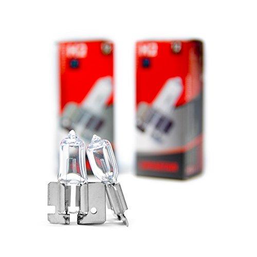 2 x H2 X 511 Birnen Auto Halogen Lampen 3200K 55W Glühbirnen Weiß 12 Volt