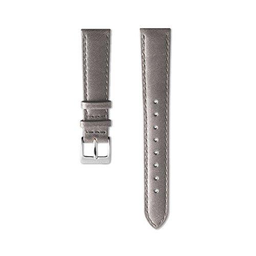 Nordgreen Lederarmband Grau für 36mm Uhren Rosegold 10122