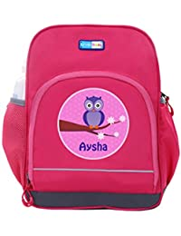UniQBees Personalised School Bag With Name (Little Life Pre-School Backpack-Pink-Winky)